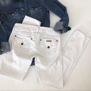 Hudson white cigarette skinny jeans denim size 27